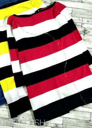 Джемпер свитер очень приятный и яркий, две расцветки сзади разрез