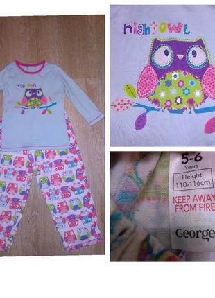 Пижама, совы, с совами, george, 5-6 лет
