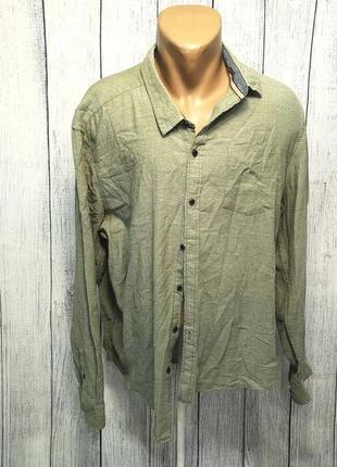 Рубашка стильная acw85, xl, cotton, качество, как новая!