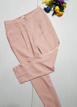 Пудровые брюки с лампасами размер 12