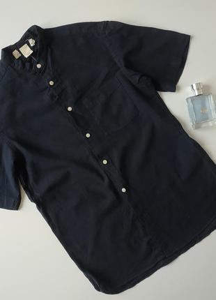 Льняная мужская рубашка р.хс h&m