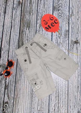 Фирменные шорты h&m для мальчика 3-6 месяцев, 68 см