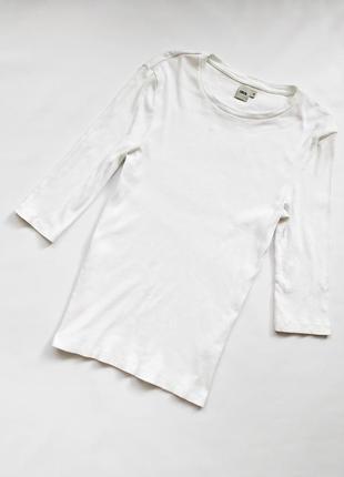 Мужская базовая белая футболка в рубчик с длинным рукавом asos
