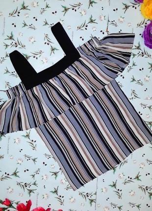 Акция 1+1=3 оригинальная стильная блуза в полоску sweewe, размер 44 - 46, дорогой бренд