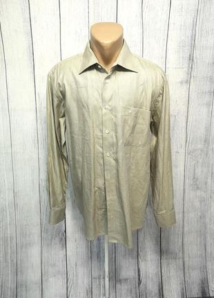 Рубашка стильная eden valley, 41, cotton, качественная, как новая!