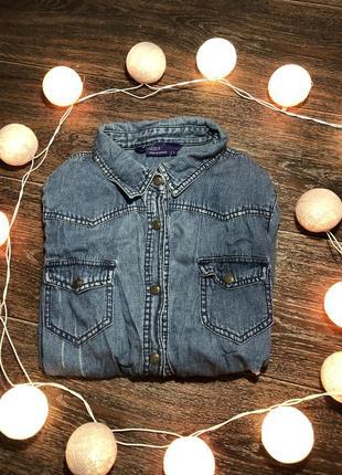Рубашка джинсовая сток