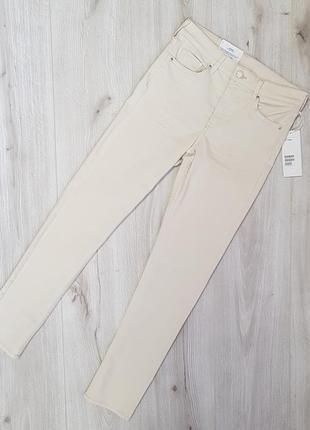 Белые стрейчевые джинсы h&m 27,28,светлые бежевые джинсы,бежевые крутые джинсы6