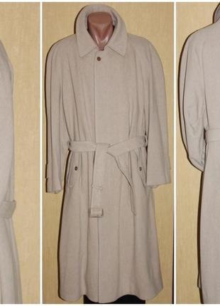 Стильное мужское пальто кашемир демисезонное, blicker international menswear, италия 54/56