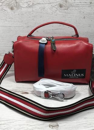 Женская кожаная сумка черная красная серая чорна шкіряна сумка8