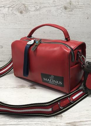 Женская кожаная сумка черная красная серая чорна шкіряна сумка10