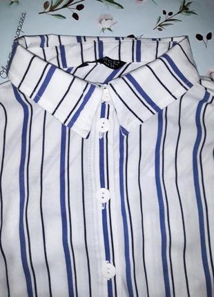 Акция 1+1=3 стильная удлиненная блуза в полоску, размер 44 - 46