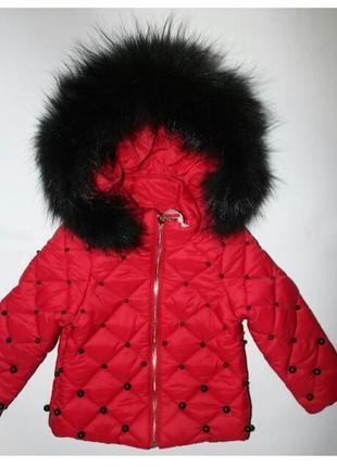 Демисезонная куртка оригинал италия мех натуральный