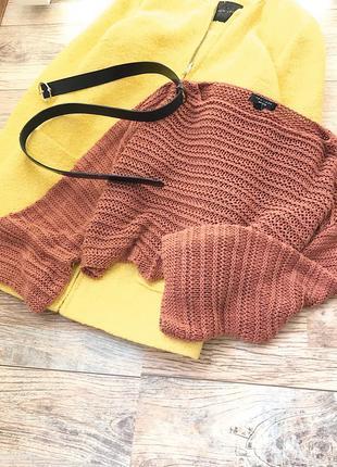 Оверсайз свитер крупной вязки new look
