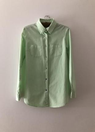 Ментоловая рубашечка на кнопках