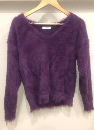 Шикарный пушистый свитер mango4