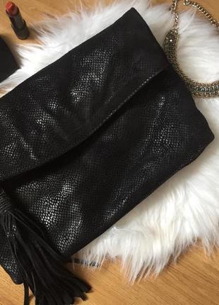 Англия! статусная брендовая сумка-клатч натуральная кожа c лазерным напылением