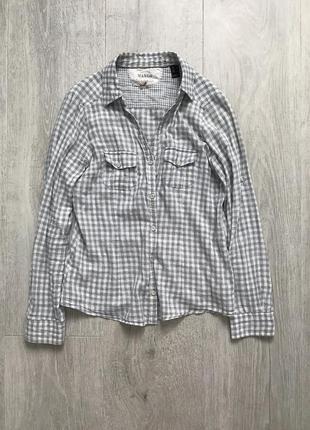 Рубашка в клетку mango