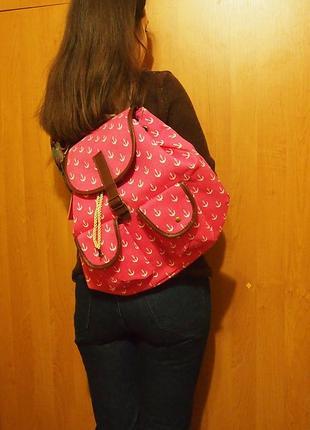 Рюкзак mai max firenze италия розовый текстиль8 фото