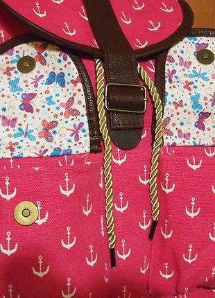 Рюкзак mai max firenze италия розовый текстиль9 фото