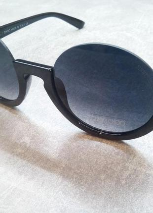 Черные круглые солнцезащитные очки
