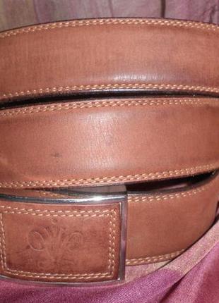 Стильный мягкий ремень матовая кожа пряжка без дырочек качество 95см укорачиваемый италия