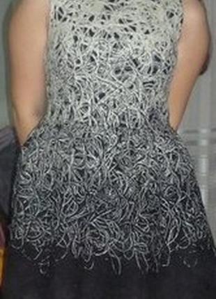 Черно-белое ниточное платье by victoria beckham