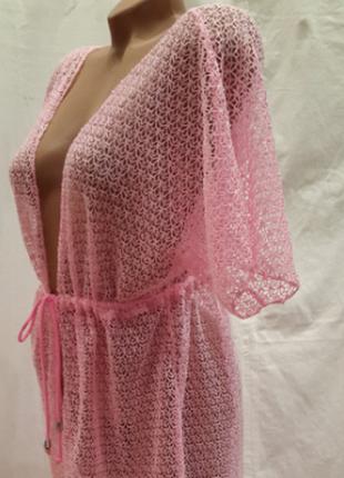 Пляжный халат-туника мармарис  пудра 48-52