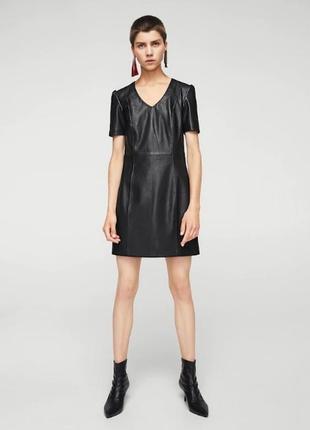 Платье из искусственной кожи mango2 фото