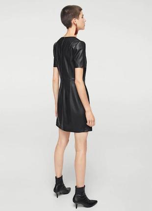 Платье из искусственной кожи mango3 фото