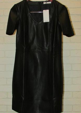 Платье из искусственной кожи mango4 фото