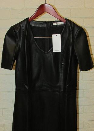 Платье из искусственной кожи mango7 фото
