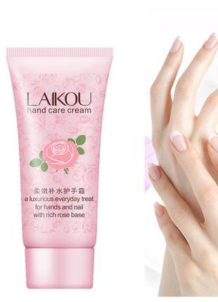 Крем для рук с маслом розы laikou hand care cream