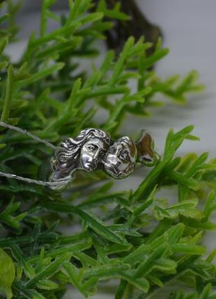Серебряное #кольцо, #парочка, #лица, #бескаменка, #срібна каблучка, #925, 18р-р
