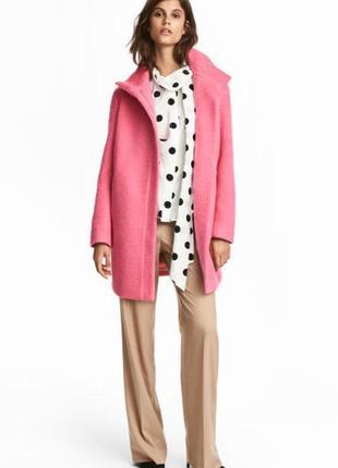 Пальто прямого крою 48% шерсть h&m (нове, з ярликом)