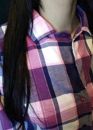 Брендовая рубашка клетка от per una2
