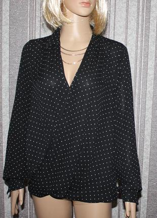 Красивая стильная блуза в горошек