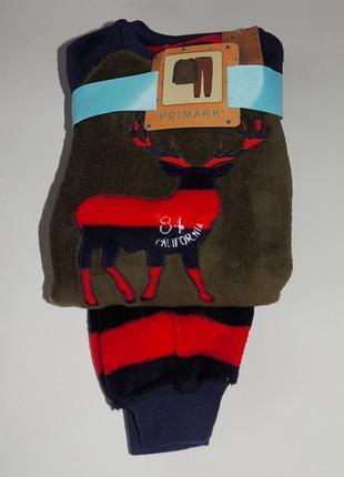 Пижама пушистый флис для мальчика, primark.