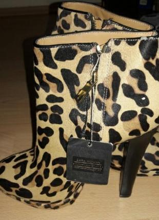 Стильные леопардовые ботинки