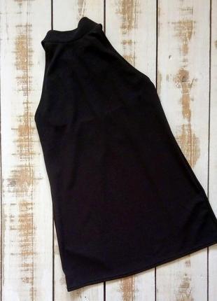 Блуза под горло с открытой спиной glamour babe