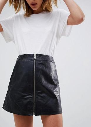 Кожаная юбка vera pelle