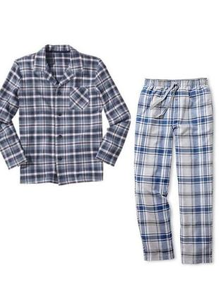 Пижама мужская фланель тсм tchibo чибо германия р. м 48-50