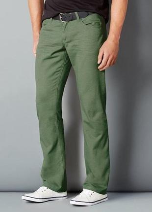 Джинсы зеленые, джинсовые, коттоновые брюки, 54 размер, германия