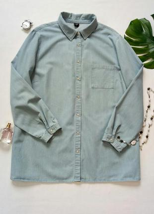Джинсовая рубашка на кнопках
