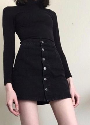 Классная новая юбка трапеция на пуговицах