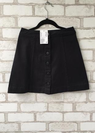 Классная новая юбка трапеция на пуговицах6