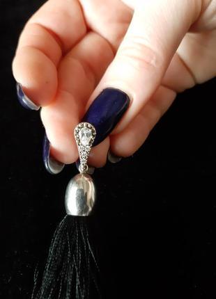 Очень красивые серебрянные серьги кисточки