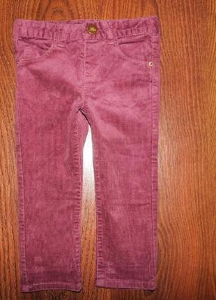Штаны, джинсы, микровельвет zara 12-18 мес