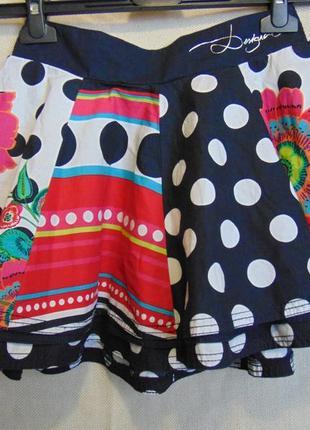 Пышная двухслойная юбочка для девочки 9-10 лет, desigual.