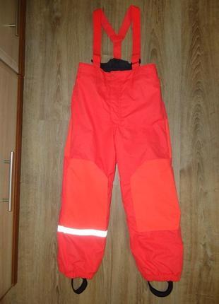 Бомбезные, яркие, неоновые лыжные термо штаны h&m на 7-8 лет.