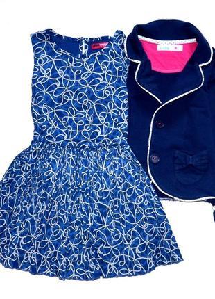 Yd шифоновое платье с плиссе юбкой. 2-3 года. рост 98 см.